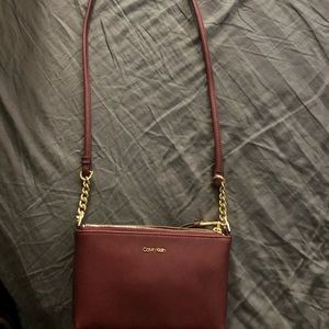 Calvin Klein shoulder clutch purse